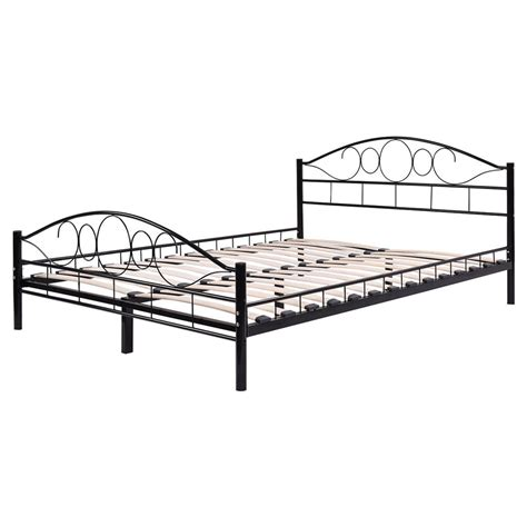 metal queen size bed frame queen size wood slats steel bed frame platform headboard