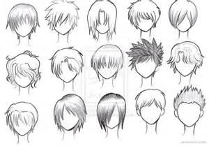 draw anime male hair 20