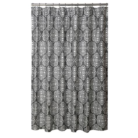 bloomingdales shower curtains blissliving home quot harmony storm quot grey shower curtain