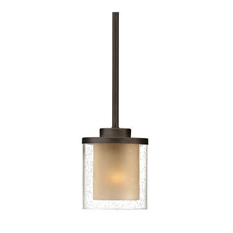 Modern Mini Pendant Lighting Seeded Glass Mini Pendant Light Bronze Dolan