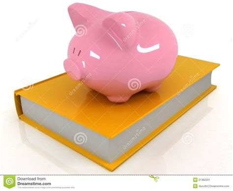 book piggy bank piggy bank on the book stock image image 21382201