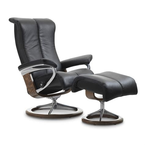 Stressless Recliners by Stressless Piano Small Chair And Ottoman Signature Base
