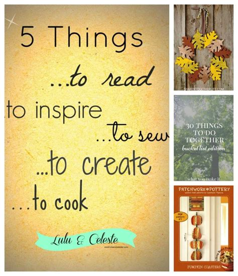 5 Things To Perk Up Your Week by Lulu Celeste Sewing Up A Bit Of