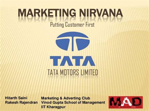 Mba Marketing In Tata Motors by Tata Motors Limited
