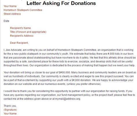 charity letters asking for donations template business letter template asking for donations best