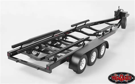 rc boat trailers how to build rc4wd bigdog 1 10 triple axle scale boat trailer rc car