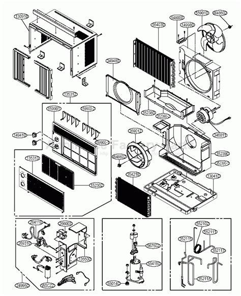 carrier air conditioner parts diagram parts for r5208 goldstar air conditioners with regard