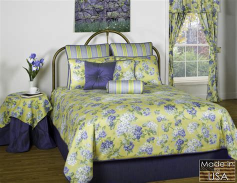 blue and yellow comforter 4pc stunning blue yellow spring floral garden comforter