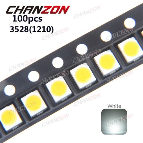 Led Smd aliexpress buy 100pcs ultra bright 3528 led smd white chip surface mount 20ma 7 8lm light