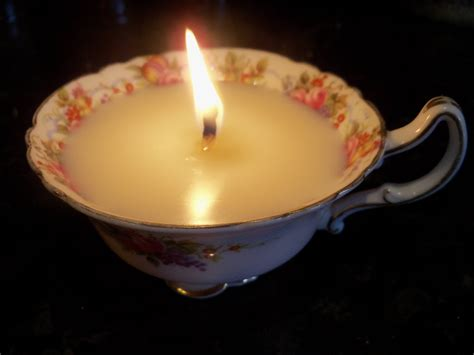 make candles how to make a tea cup candle step by step instructions