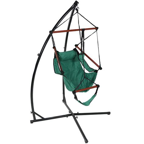 swing schweiz sunnydaze durable x stand and hanging hammock chair set or