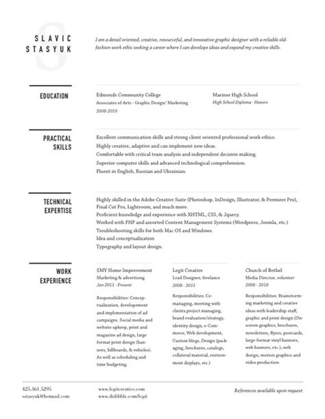 30 great exles of creative cv resume design web graphic design bashooka