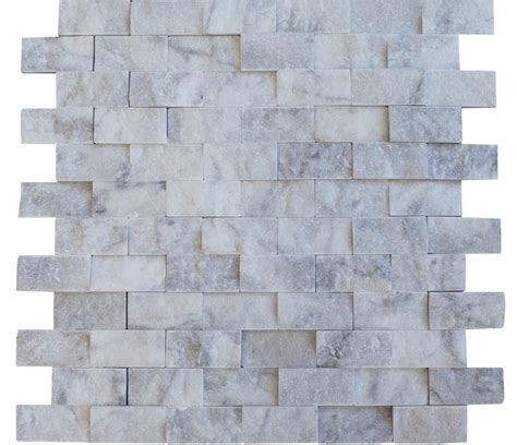 brick pattern mosaic tile italian white carrara marble 1 quot x 2 quot brick pattern