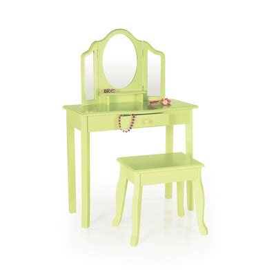 Guidecraft Vanity And Stool by Guidecraft Vanity And Stool Light Green