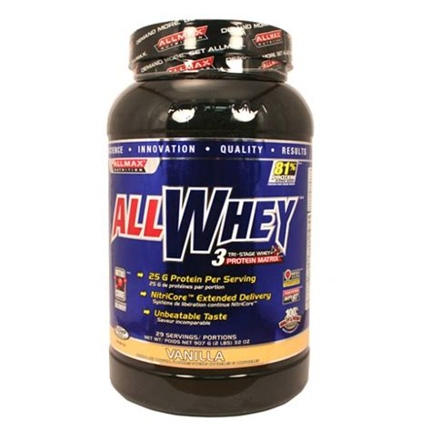 canadian protein canadas supplements superstore buy allmax nutrition allwhey protein powder in canada