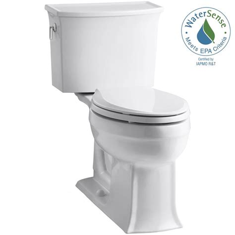kohler comfort height elongated toilet kohler archer comfort height 2 piece 1 28 gpf elongated
