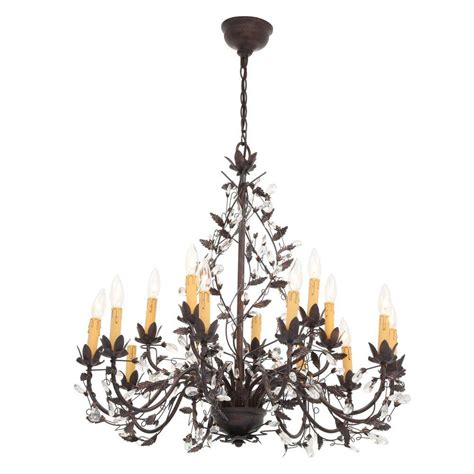hanging a chandelier hton bay 15 light tuscan copper hanging chandelier