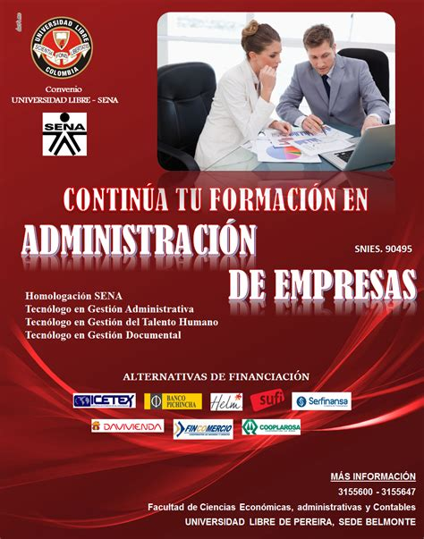 convenio unad sena administracin de empresas convenio sena programa de administraci 243 n de empresas
