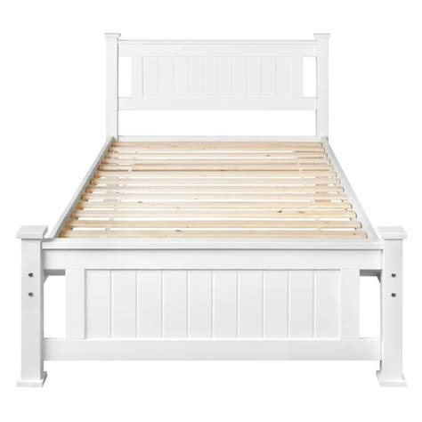 Wooden Single Bed Frames King Single Size Pine Wooden Bed Frame In White Buy 30 50 Sale