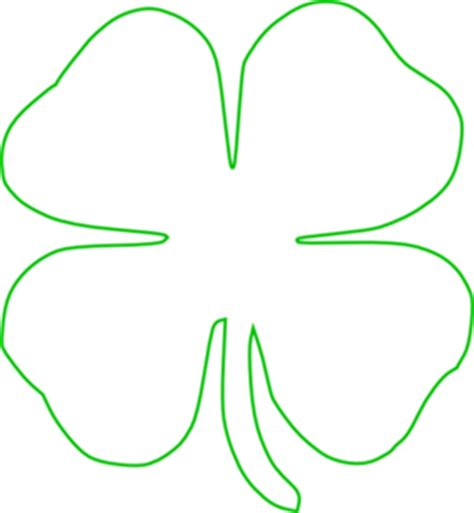 Shamrock Outline Clipart by White Green Shamrock Clip At Clker Vector Clip Royalty Free Domain