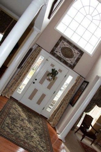 Front Door Window Treatments Ideas 1000 Images About Sidelight Curtains On Window Treatments Entry Ways And Foyers
