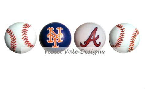 Baseball Drawer Pulls by Baseball Custom Team Painted Drawer Knob By