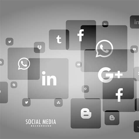 gray background  social media logo
