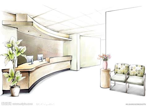 Interior House Drawing by