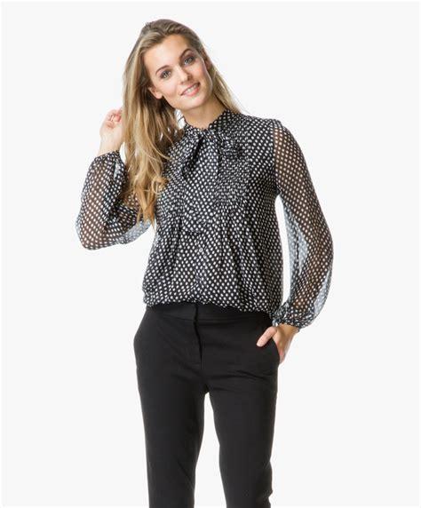 Tiny Batik Blouse diane furstenberg marjorie silk blouse with bow tie dotted batik tiny black marjorie