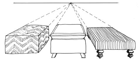 one point perspective sofa drawing references art 102 drawing for non majors