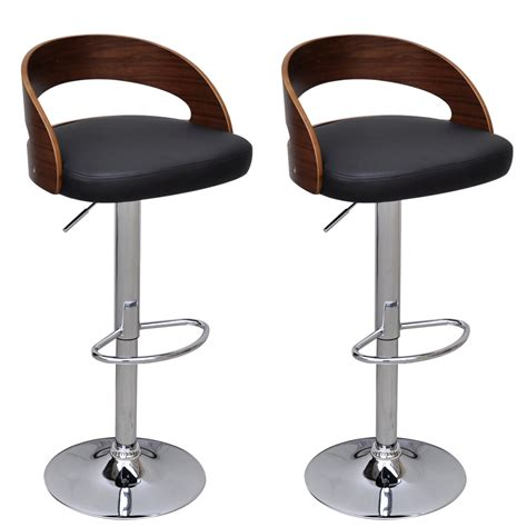 Stool Backrest by 2 Pcs Bentwood Bar Stool With Backrest Height Adjustable