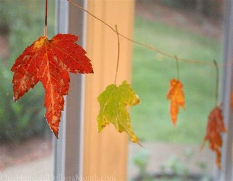 easy fall craft wax dipped leaves
