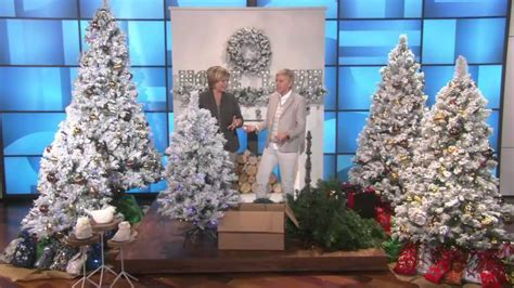 ellen degeneres christmas trees e d on air 9 flocked sherwood spruce tree by degeneres with carolyn gracie