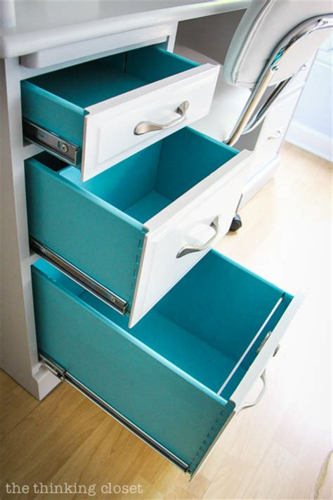 Should You Paint The Inside Of Dresser Drawers by Roll Top Desk Makeover With Stencil Details Before