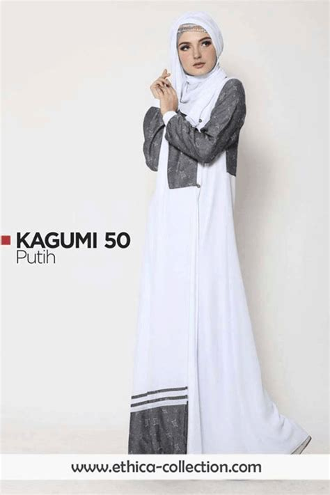 Set Baju Muslim 50 Nmmadefran kagumi 50 putih ethica collection