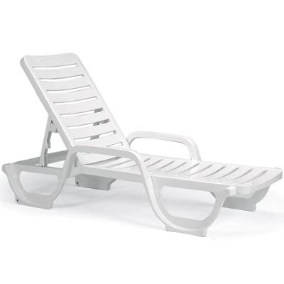 Grosfillex Lounge Chairs by Grosfillex 44031004 Bahia Stackable Chaise Lounge Chair