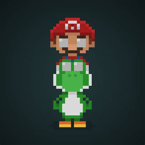 pixelated mario characters 1000 ideas about yoshi pixel art on pinterest art 8