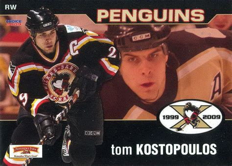 Toms Gift Card Number - tom kostopoulos player s cards since 2001 2009 penguins hockey cards com