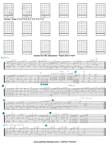 bullet for my tabs bullet for my tears don t fall free guitar tab