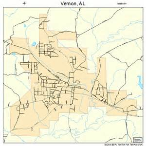 map of vernon vernon alabama map 0178480