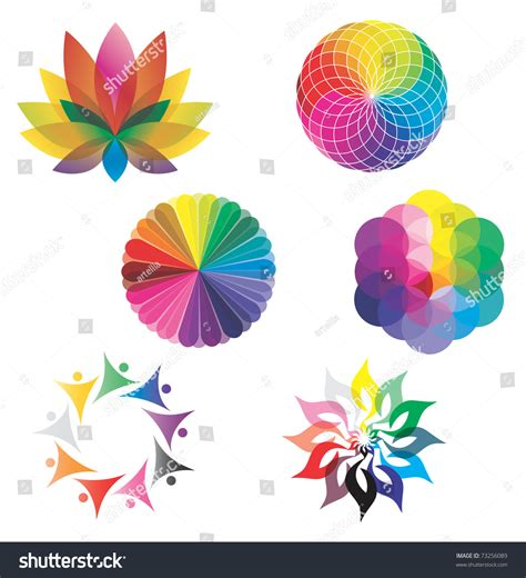 lotus colors set of color wheels circles lotus flower flower of