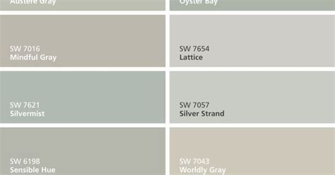 paint colors silver strand mindful gray oyster pearl passive gray and intellectual gray