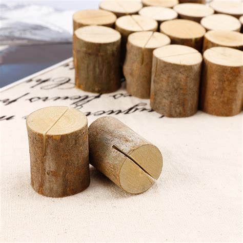 wooden number holders 10 20 50 tree wood place card name holders number