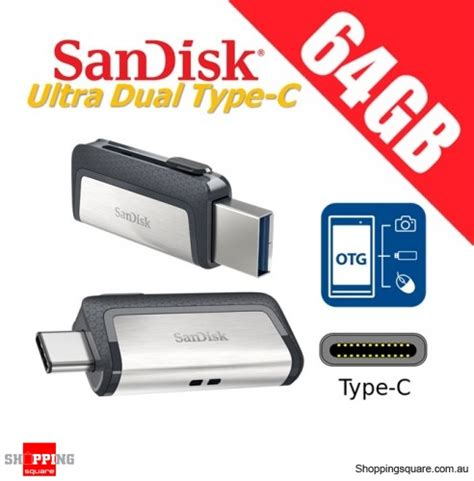 Sandisk Dual Usb 64gb sandisk ultra dual drive 64gb usb type c usb 3 1 smartphone tablet pc 150mb s shopping