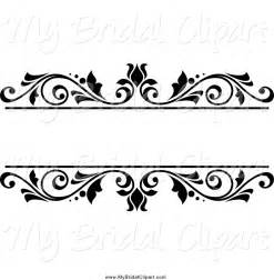 bridal clipart of a black and white floral wedding frame