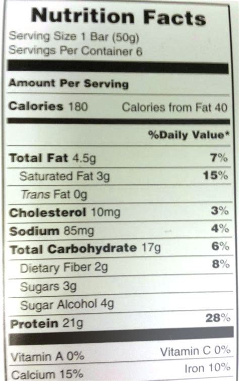protein nutrition protein bar nutrition facts nutrition ftempo