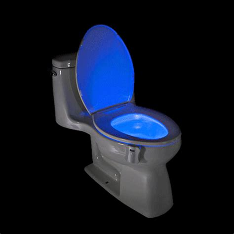 Lighted Toilet Bowl by Motion Activated Light Up Toilet