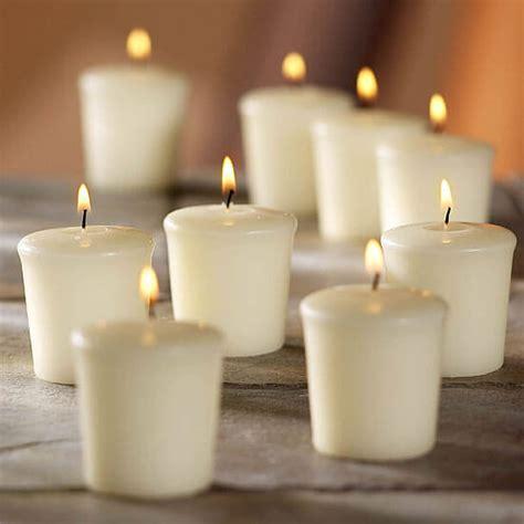 Unscented Votive Candles 9 Ivory Unscented Votive Candles 15hr