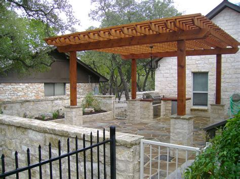 wimberley outdoor kitchen and pergola