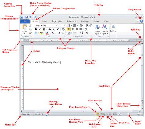 screen layout microsoft word 2010 word 2010 initial screen